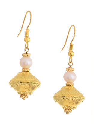 Gold-plated Silver Earrings with Pearls