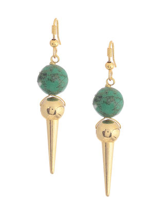 Turquoise Gold-plated Silver Earrings