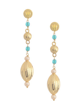Blue Gold-plated Silver Earrings