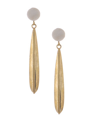 Marble-Brass Earrings