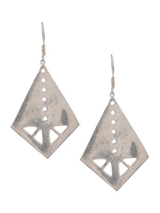 Classic Rhodium-Plated Silver Earrings