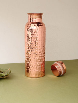 Copper Bottle (Dia:3in, H:9.6in)
