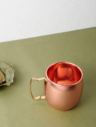 Copper Mugs (Set of 2) (L:5in, W:4in, H:4in)