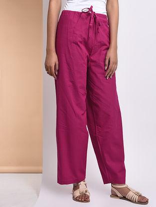 Pink Tie-up Waist Mangalgiri Cotton Lounge Pants