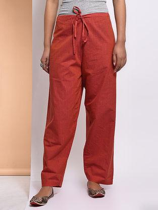 Orange Tie-up Waist Mangalgiri Cotton Lounge Pants