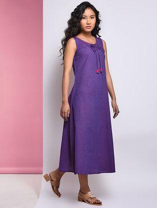 Purple Mangalgiri Cotton Dress
