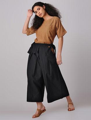 Black Samurai Tie-up Waist Mangalgiri Cotton Pants