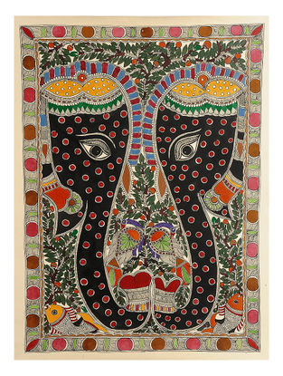 Elephant Madhubani Painting - 30in x 22in