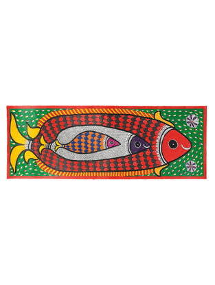 Fish Madhubani Painting - 11.2in x 30.2in