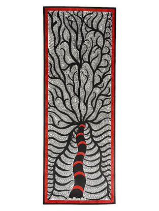 Tree of Life Madhubani Painting - 30.2in x 11in