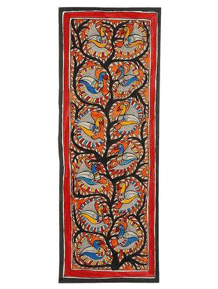 Birds on Tree Madhubani Painting - 30in x 11in