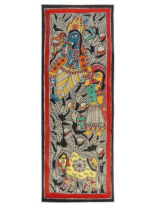 Krishna Ji Madhubani Painting - 30in x 11in