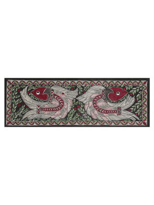 Fish Madhubani Painting - 7.3in x 22in