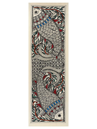 Fish Madhubani Painting - 7.5in x 22.5in