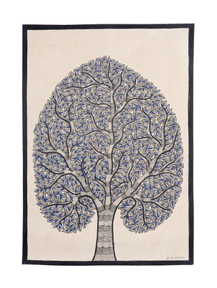 Tree of Life Madhubani Painting - 22in X 15in