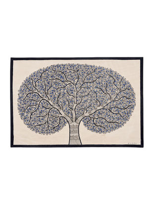 Tree of Life Madhubani Painting - 15in X 22in