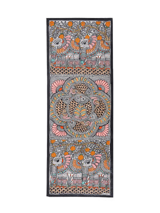 Fish and Elephant Madhubani Painting - 30.5in X 11in