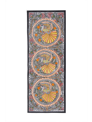 Peacocks Madhubani Painting - 30.5in X 11in