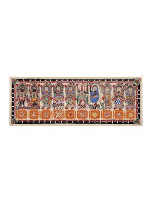 Durga Darbar Madhubani Painting - 11in X 30in