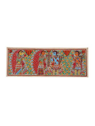 Ram-Sita Wedding Scene Madhubani Painting - 11in X 30in