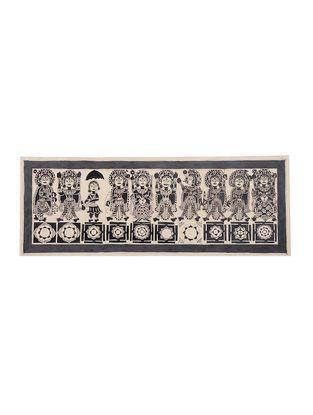 Navdurga Madhubani Painting - 11in X 30in
