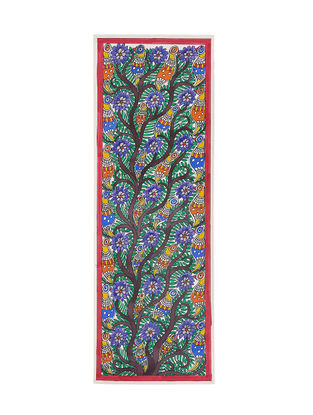 Tree of Life Madhubani Painting - 22in X 7.5in