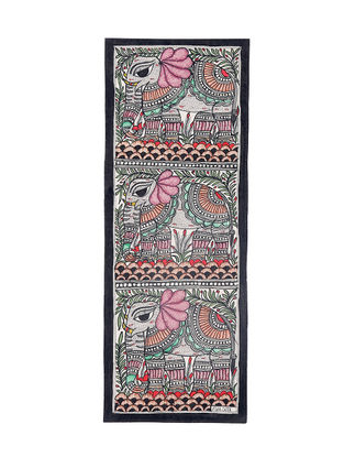 Elephants Madhubani Painting - 15in X 7.5in