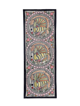 Peacocks Madhubani Painting - 15.2in X 5.5in