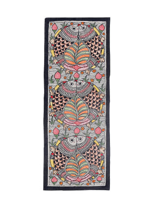 Twin Fish Madhubani Painting - 15in X 5.5in