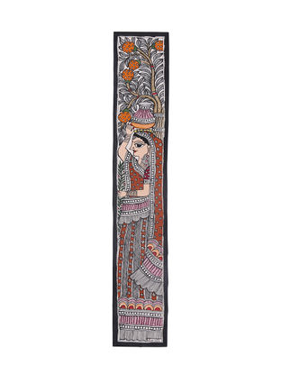 Lady with a Pot Madhubani Painting - 22.5in X 3.6in