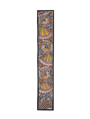 Peacocks Madhubani Painting - 22.6in X 3.6in