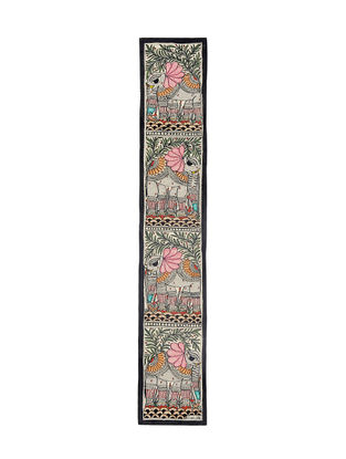 Elephants Madhubani Painting - 22.5in X 3.7in