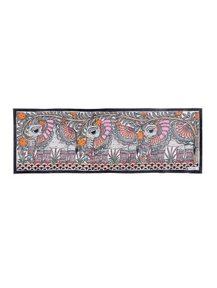 Elephants Madhubani Painting - 7.5in X 22.5in