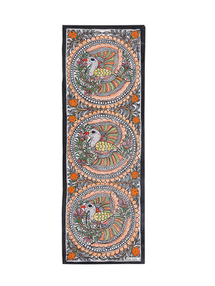Peacocks Madhubani Painting - 22.3in X 7.5in