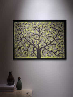 Tree of Life Madhubani Painting - 22.1in x 30.2in