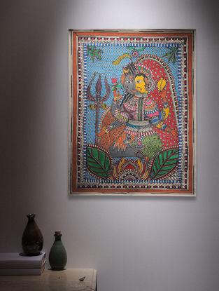 Ardhanarishwar Madhubani Painting - 30in x 22.2in