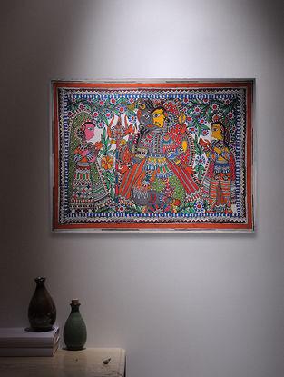 Ardhanarishwar Madhubani Painting - 22.5in x 30in