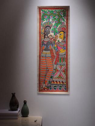 Radha Krishna Madhubani Painting - 30in x 11in