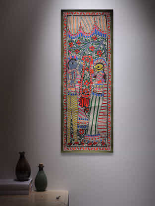 Deity Madhubani Painting - 30in x 11in