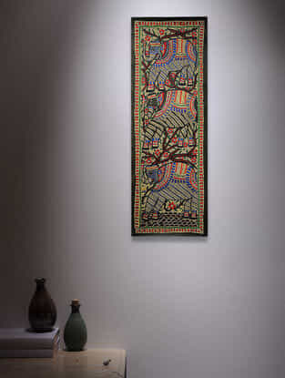 Elephants Madhubani Painting - 30in x 11in