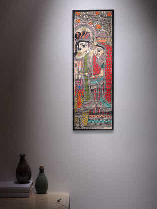 Radha Krishna Madhubani Painting - 22.5in x 7.5in