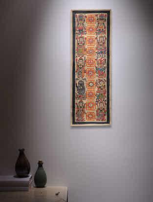 Navdurga Madhubani Painting - 22in x 7.5in