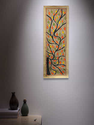 Tree of Life Madhubani Painting - 22.5in x 7.5in