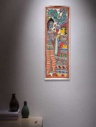 Deity Madhubani Painting - 22.5in x 7.5in