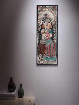Ardhanarishwar Madhubani Painting - 14.7in x 5.5in