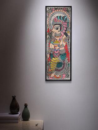 Ganesha Madhubani Painting - 14.7in x 5.5in