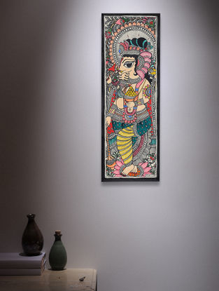 Madhubani Painting - 14.7in x 5.5in