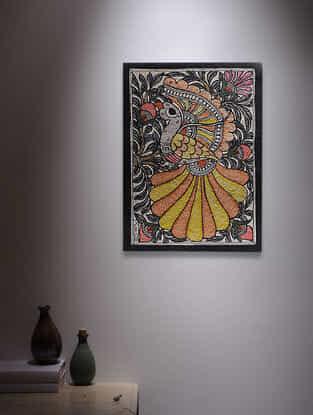 Bird Madhubani Painting - 5.5in x 7.6in
