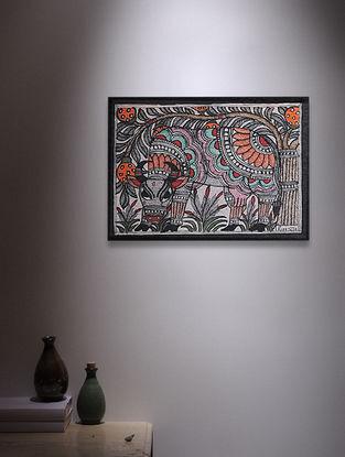 Nandi Madhubani Painting - 5.6in x 7.6in