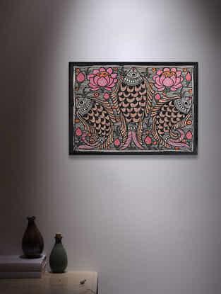 Fish Madhubani Painting - 5.6in x 7.6in